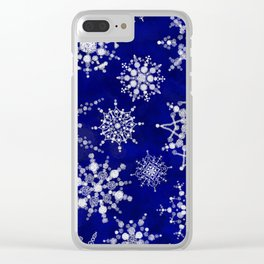 Snowflakes Floating through the Sky Clear iPhone Case