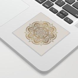 Mandala Beige Creamy Pattern 1 Sticker