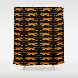 Leaping Tigers Shower Curtain