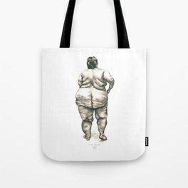 mujer en la ducha Tote Bag