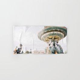 Fountain at Place de la Concorde in Paris, France Hand & Bath Towel