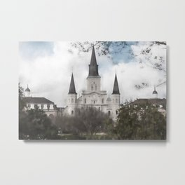 St. Louis Cathedral-New Orleans, Louisiana Metal Print