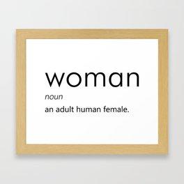 Woman (Definition) Framed Art Print