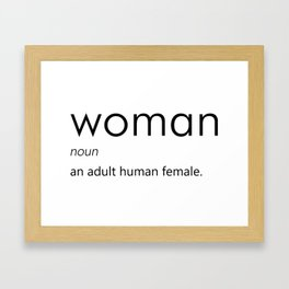 Woman (Definition) Framed Art Print