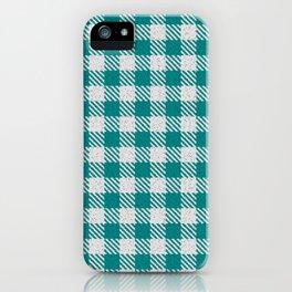 Teal Buffalo Plaid iPhone Case