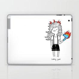 On Fire by Sarah Pinc Laptop & iPad Skin