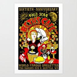 Beth's Cafe 60th Anniversary Art Print