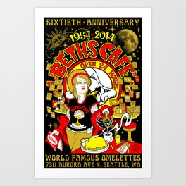 Beth's Cafe 60th Anniversary Art Print