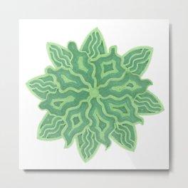 Emerald Flower Metal Print
