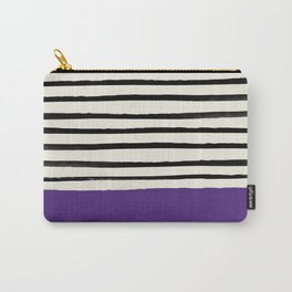 Purple Grape x Stripes Carry-All Pouch