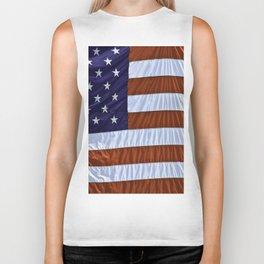 United States Of America Flag Biker Tank