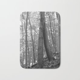 Old love, black and white photography trees Bath Mat