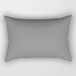 Emboss Gray Cross Hatch Rectangular Pillow