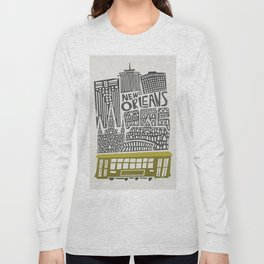 New Orleans City Cityscape Long Sleeve T-shirt
