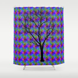 Psychedelic Mystery Tree Shower Curtain