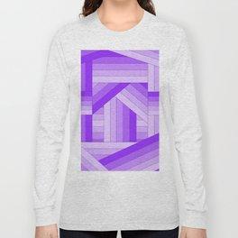 Purple Stripes Long Sleeve T-shirt