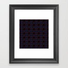 Infrared Neon Triangles Pattern Framed Art Print