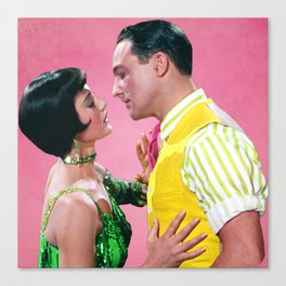 Gene Kelly & Cyd Charisse - Pink - Singin' in the Rain Canvas Print
