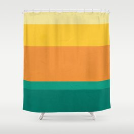 Five Shades of Sunset Shower Curtain