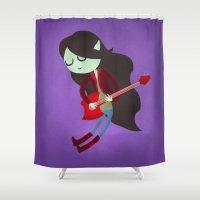 marceline Shower Curtains featuring Marceline the Vampire Queen by Vera van Groos