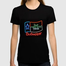 Don't Mess With Texas - Neon Beer Sign T-shirt