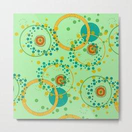 Concentric Green Metal Print