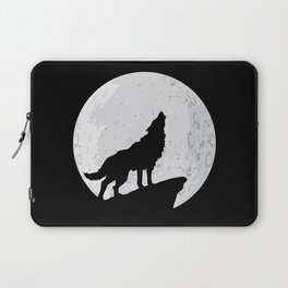 Wolf Howling To the Moon Laptop Sleeve