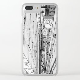 Birds eye view, black and white Clear iPhone Case