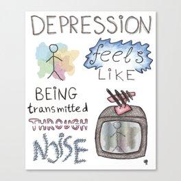 depression feels Canvas Print