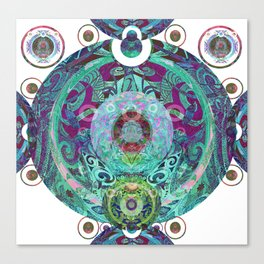 Psychedelic Tribal Orb Canvas Print