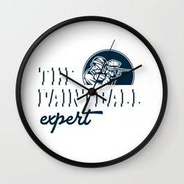 Paintball Expert Paintball Player Paintball Marker Gift Wall Clock