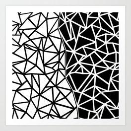 Ab Split Art Print