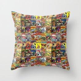 Comic Book Collage II Throw Pillow