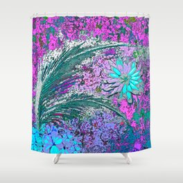 Ferns and Floweres #3 Shower Curtain