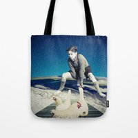 chicken Tote Bags featuring Chicken by Cs025