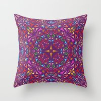 kaleidoscope Throw Pillows featuring Kaleidoscope by David Zydd