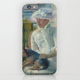 Young Girl at a Window Oil Painting by Mary Stevenson Cassatt iPhone Case