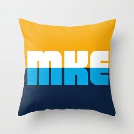 Milwaukee Flag - MKE Throw Pillow
