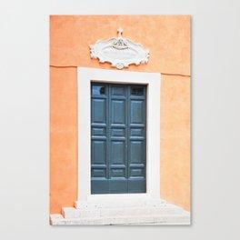 119. Roman's Door, Rome Canvas Print