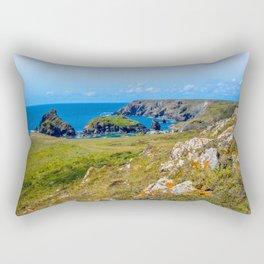 Lizard Walk - Looking back to Kynance Cove Rectangular Pillow