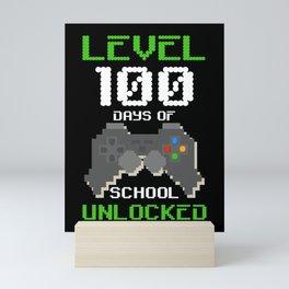 100th Day Of School Shirt For Kids Video Games Boy Girl Gift Mini Art Print