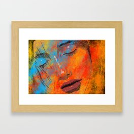Digital Pain Framed Art Print