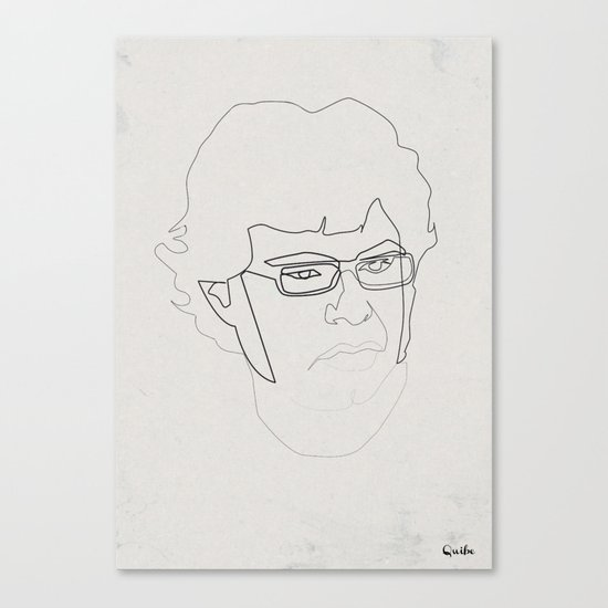 One Line Jemaine Clement 5Flight of the Conchords Canvas Print