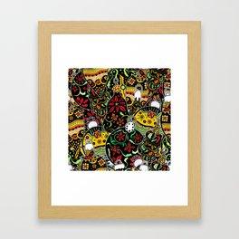 Art Patchwork Design Framed Art Print