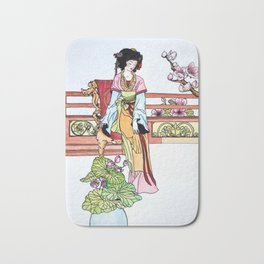 The Chinese cup in the Friday market Bath Mat