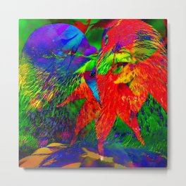 Bird Love Metal Print