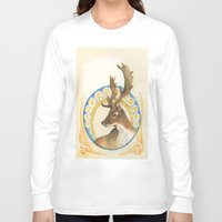 antlers Long Sleeve T-shirts featuring Antlers  by Lauren Ellie Johnson