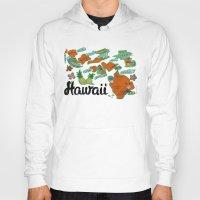 hawaii Hoodies featuring HAWAII by Christiane Engel