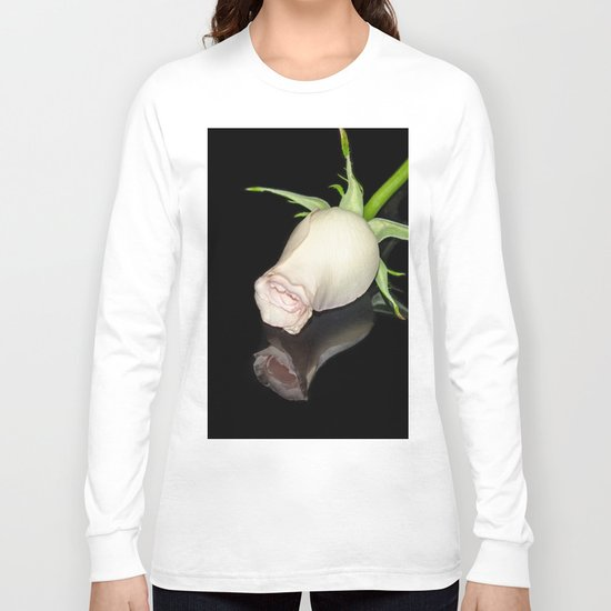 The Black Square and a White Rose Long Sleeve T-shirt