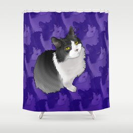 Spider Man the Cat Shower Curtain